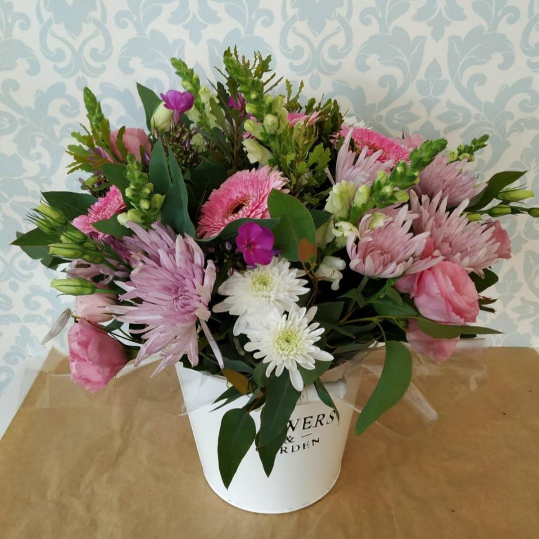 דלי פרחים flowers & garden ורוד